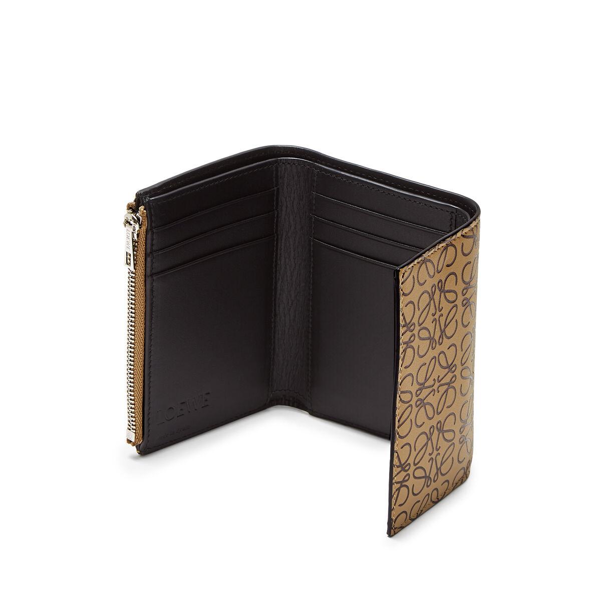 LOEWE Small Vertical Wallet Mocca/Black all