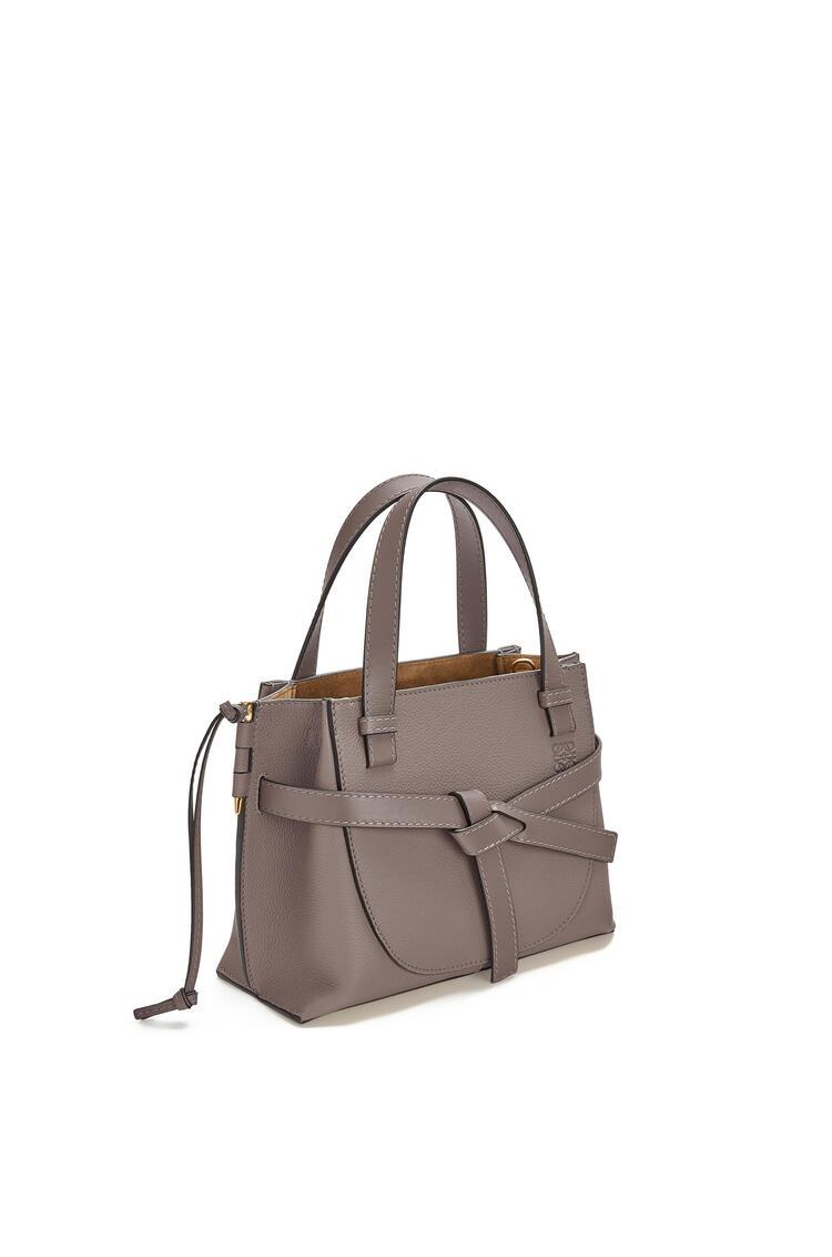 LOEWE Mini Gate Top Handle bag in soft grained calfskin Dark Taupe pdp_rd