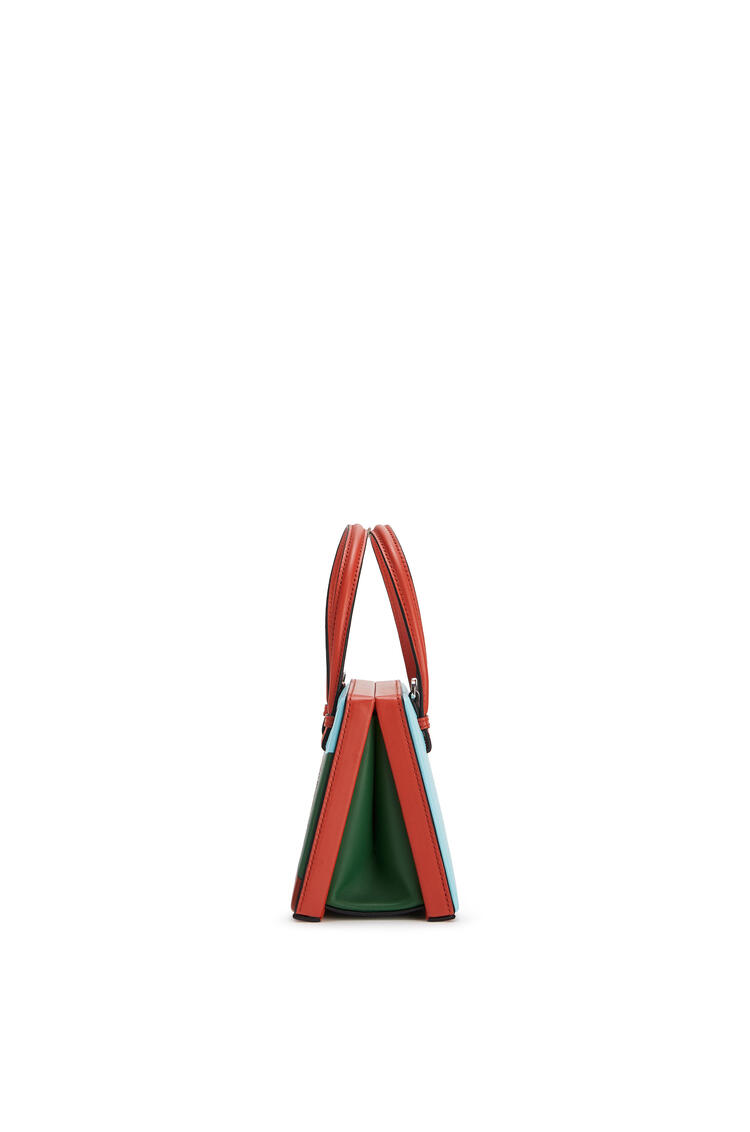LOEWE Small L.A. Series Postal bag in soft calfskin Vermillion/Multicolor pdp_rd