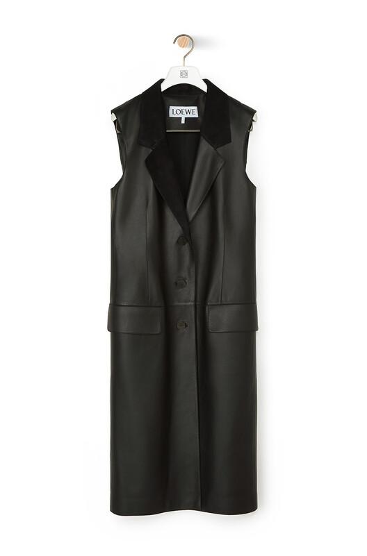 LOEWE Vest 黑色 front