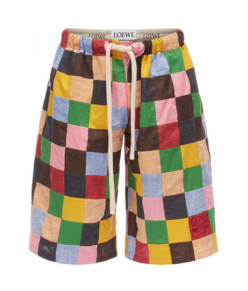 LOEWE Shorts Patchwork Multicolor front