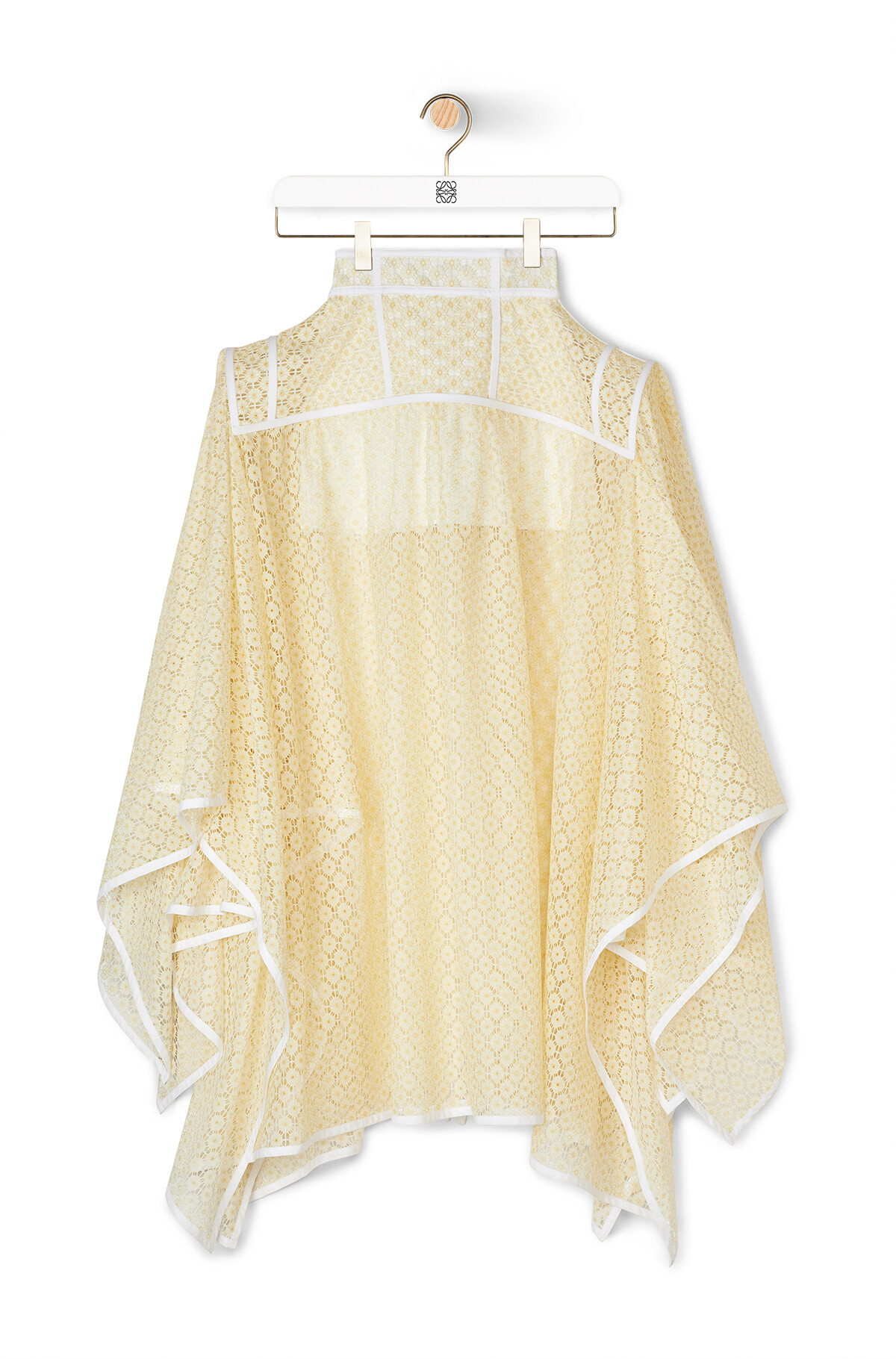 LOEWE Basque Lace Skirt Yellow front