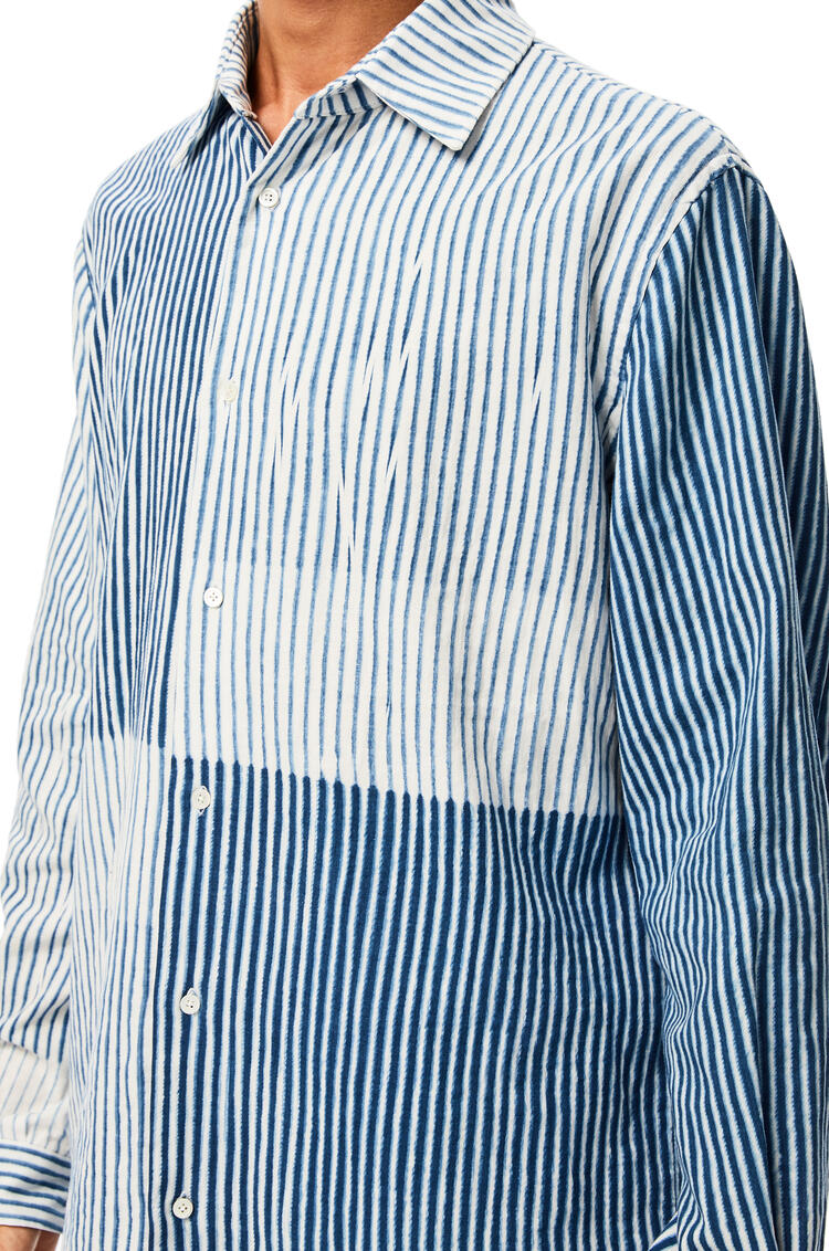 LOEWE Overshirt in cotton White/Blue pdp_rd