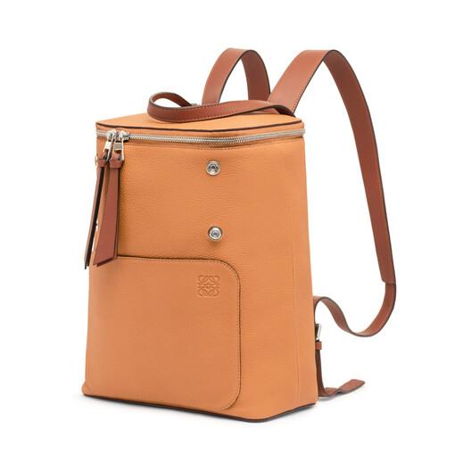 LOEWE Goya Small Backpack Light Caramel/Pecan front