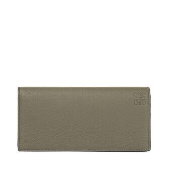 LOEWE Long Horizontal Wallet Khaki Green/Pecan Color front