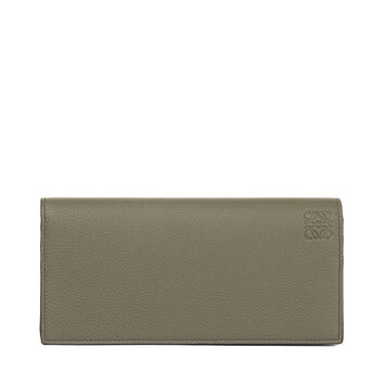 LOEWE Long Horizontal Wallet Khaki Green/Pecan Color front