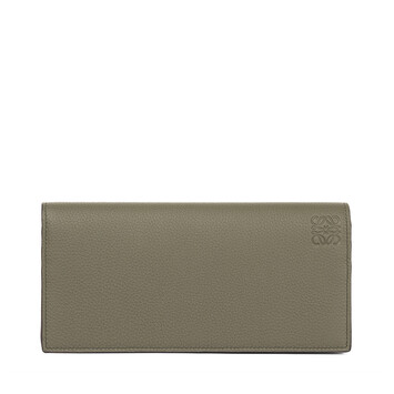 LOEWE Billetero Largo Horizontal Verde Kaki/Color Pecana front