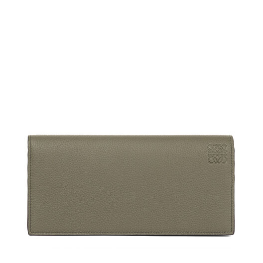 LOEWE Billetero Largo Horizontal Verde Kaki/Color Pecana all