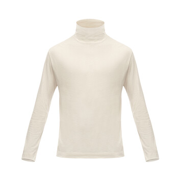 LOEWE Turtleneck Long Sleeve T-Shirt Ecru front