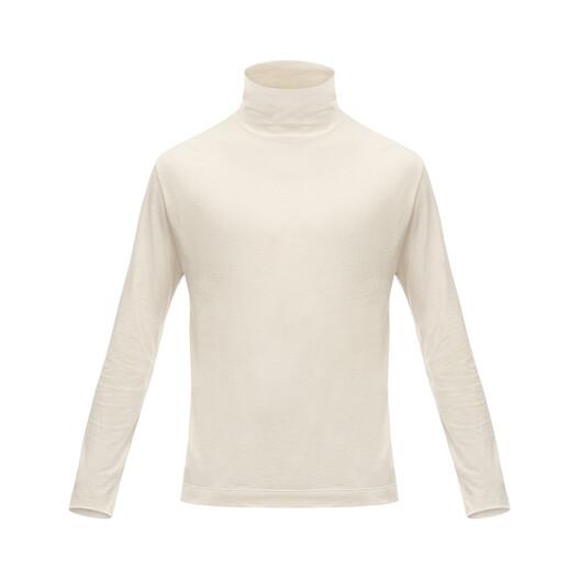 LOEWE Turtleneck Long Sleeve T-Shirt Ecru front