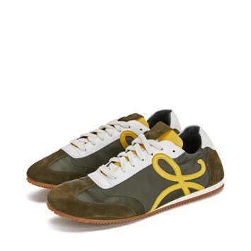 LOEWE Sneaker Khaki Green/Yellow front