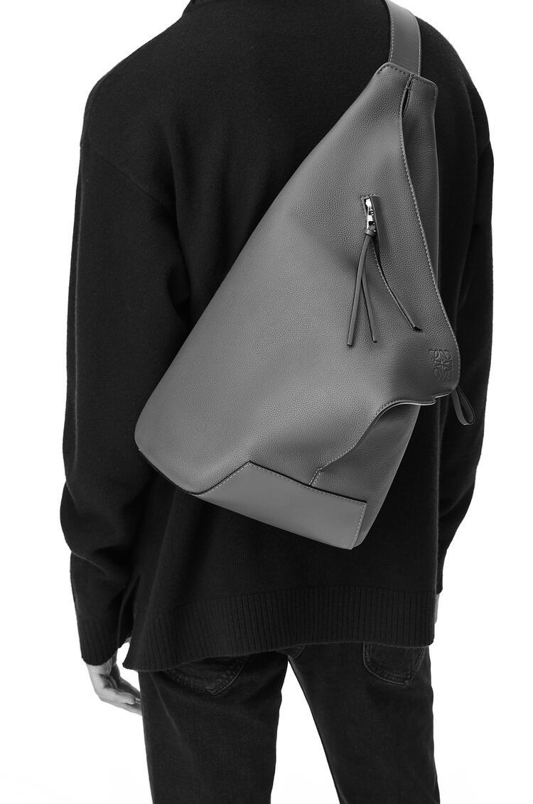LOEWE Small Anton Backpack in soft grained calfskin Dark Moss pdp_rd
