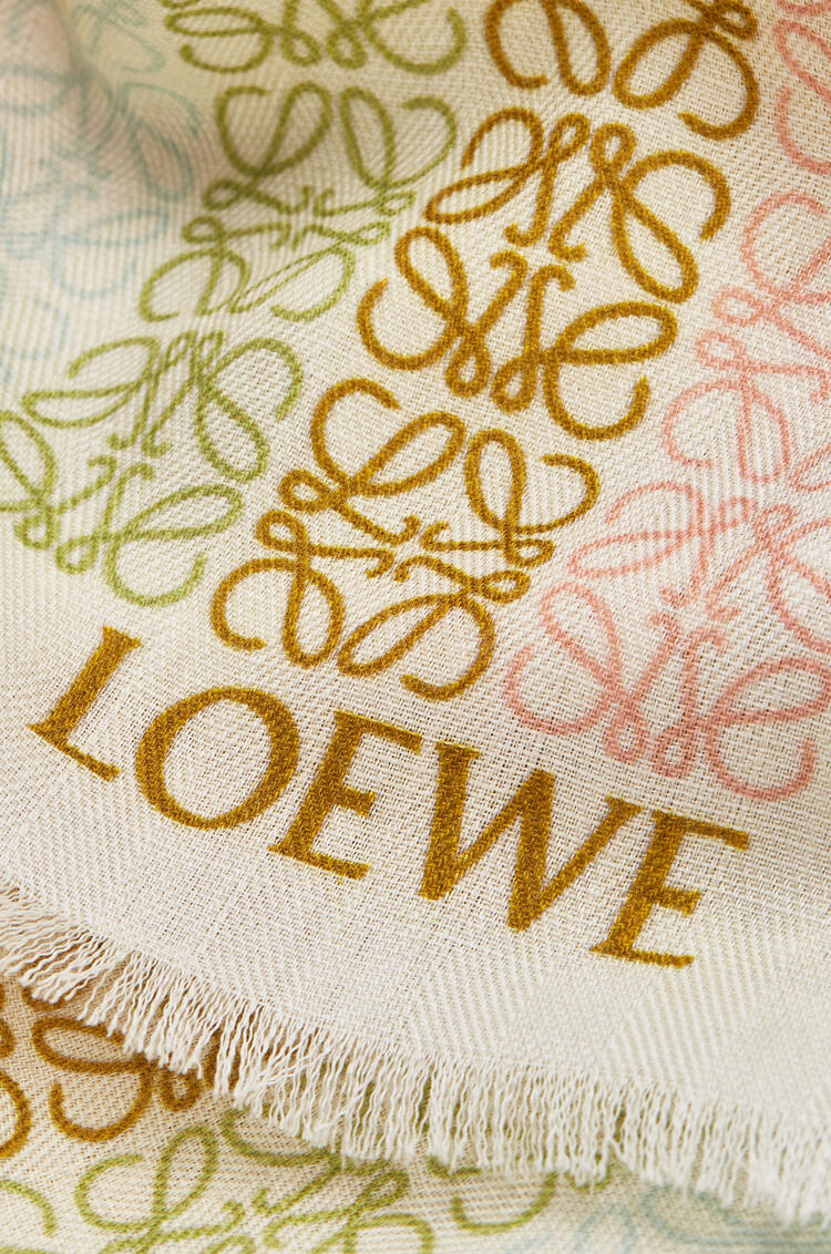 LOEWE LOEWE Anagram scarf in wool and cashmere White/Pink pdp_rd