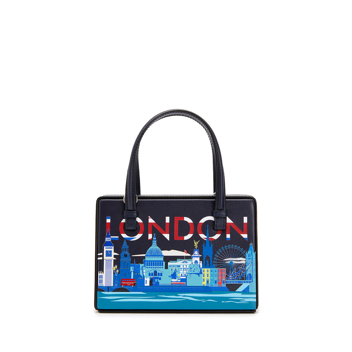 LOEWE 小号伦敦Postal手袋 Midnight Blue front