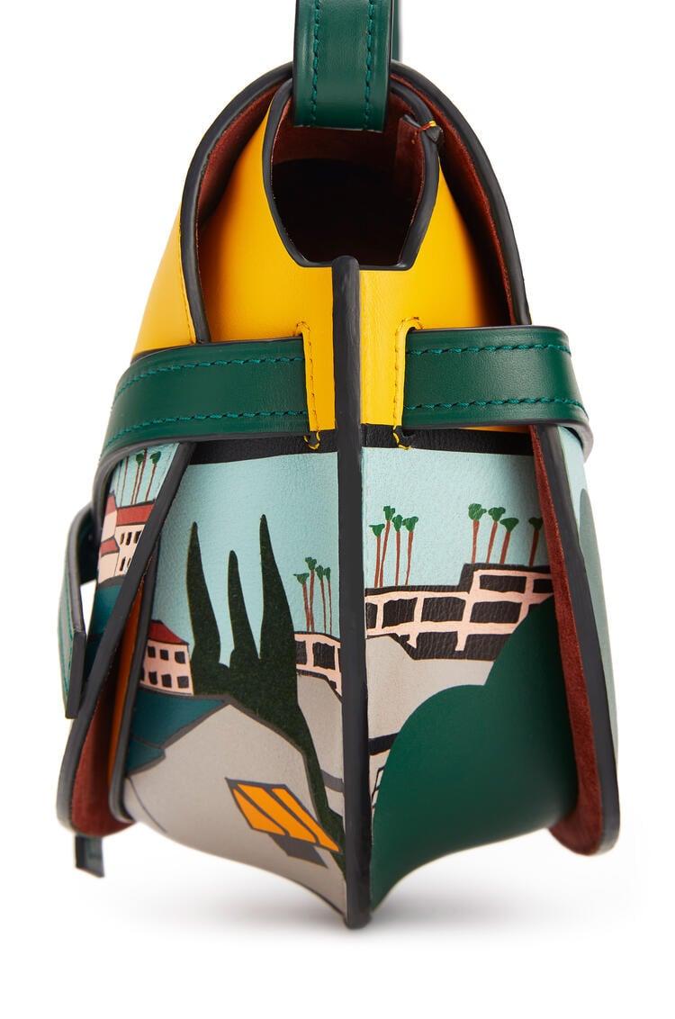 LOEWE 小号洛杉矶 系列柔软牛皮革 Gate 手袋 Yellow/Multicolour pdp_rd