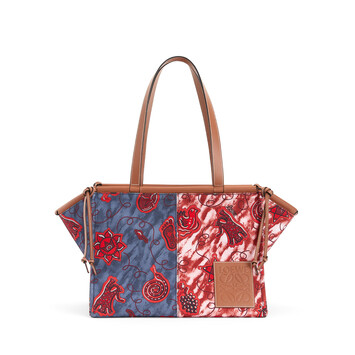 LOEWE Paula's Cushion Tote Prints Blue/Red front