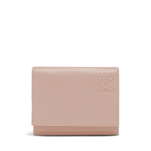 LOEWE Linen Trifold Wallet Blush front
