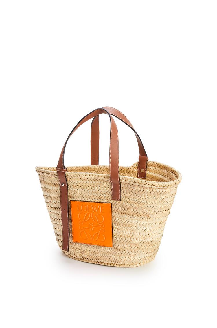 LOEWE バスケットバッグ  (ヤシの葉&カーフスキン) Natural/Neon Orange pdp_rd