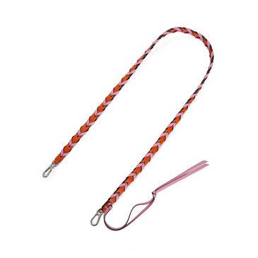 LOEWE Thin Braided strap in classic calfskin Orange/Candy pdp_rd