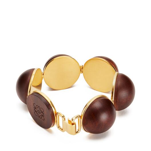 LOEWE Globe Bracelet Brown front