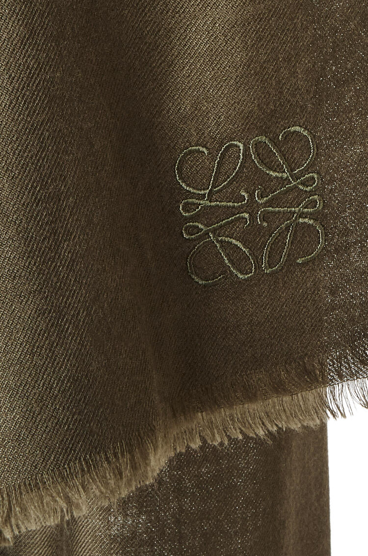 LOEWE Scarf in cashmere Dark Green pdp_rd
