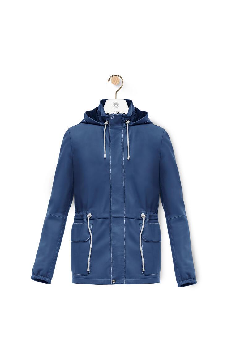 LOEWE Light hiking jacket in nappa Navy Blue pdp_rd