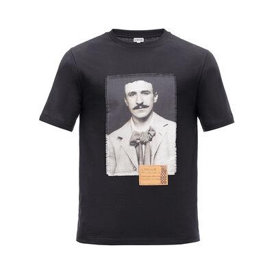 LOEWE T-Shirt Portrait 黑色 front