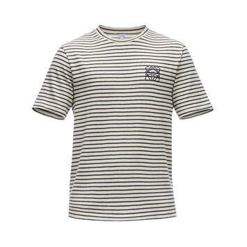 LOEWE Stripe Anagram T-Shirt Marino/Ecru front