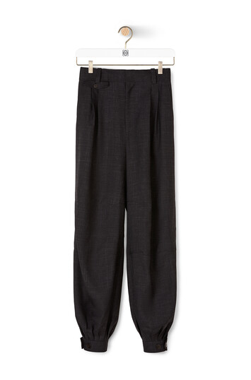 LOEWE Balloon Trousers Black front