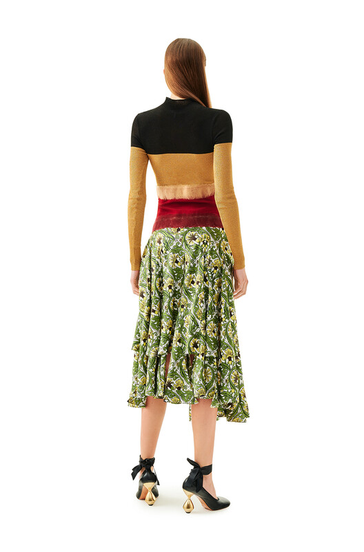 LOEWE Needle Punch Dress Multicolor front