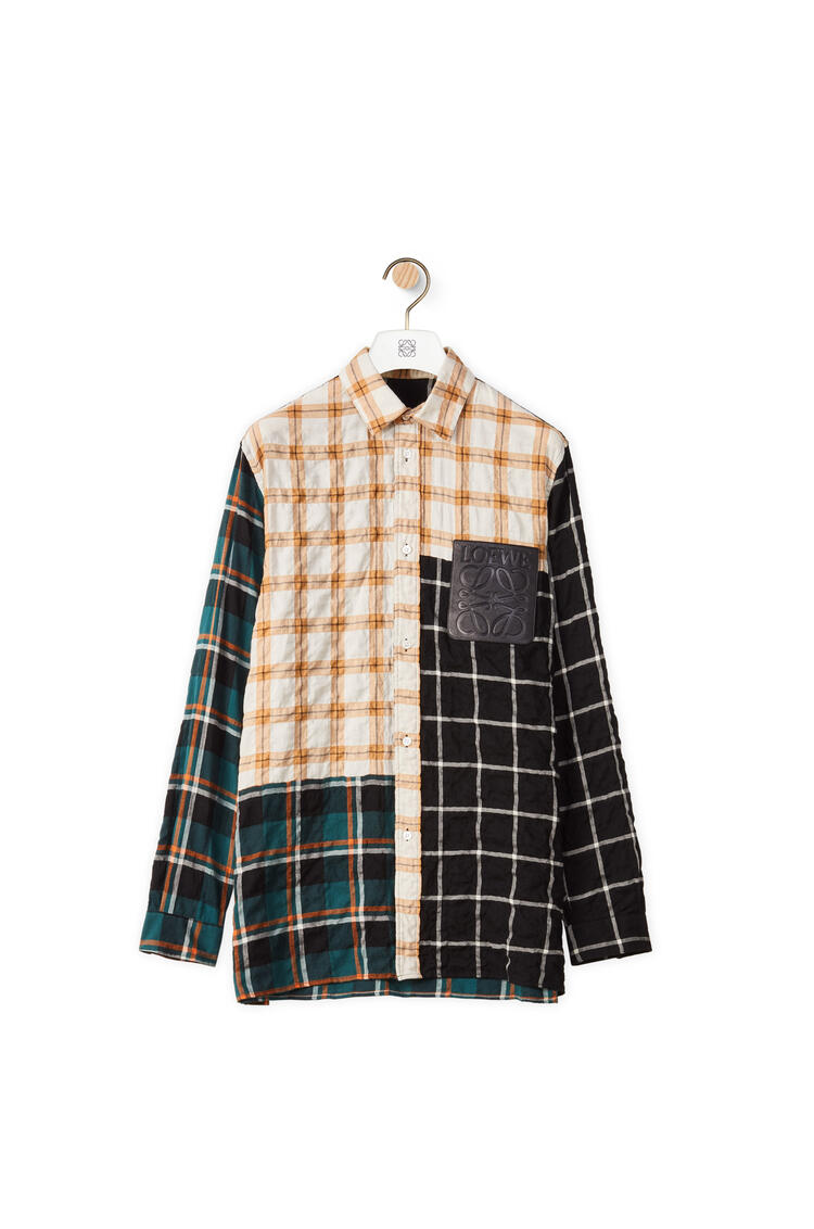 LOEWE Check overshirt in cotton and modal Multicolor pdp_rd