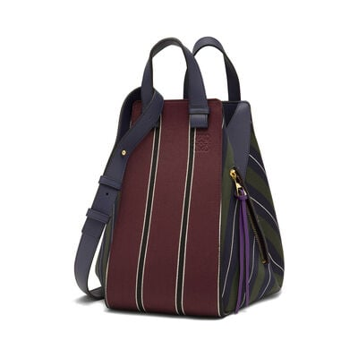 LOEWE Hammock Stripes Medium Bag Multicolor/Marine front