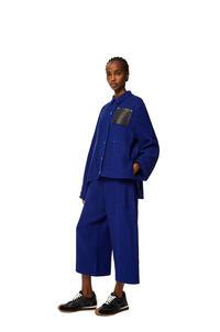 LOEWE Culotte trousers in linen Spectrum Blue pdp_rd