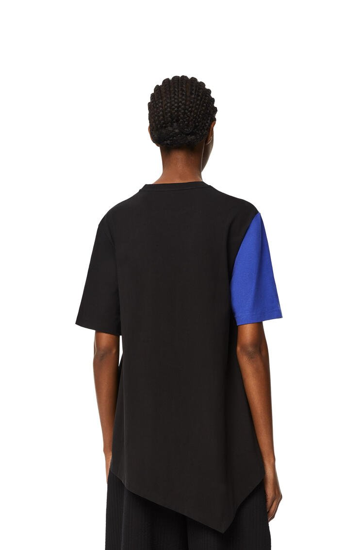 LOEWE Oversize L logo T-shirt in cotton Blue/Black pdp_rd