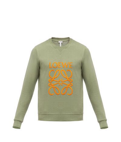 LOEWE Anagram Sweatshirt Khaki Green front