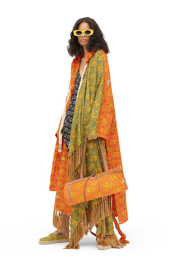 LOEWE Paula Print Hooded Coat Multicolor front