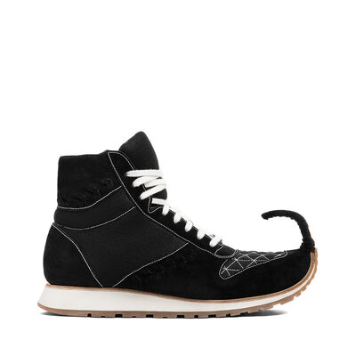 LOEWE High Top Sneaker Dinosaur Black front