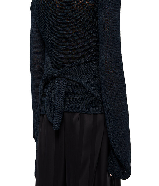 LOEWE Tie Sweater Blue front