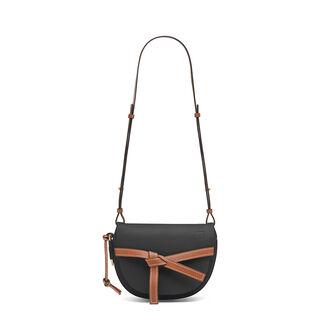 LOEWE Gate Small Bag Black/Pecan Color front