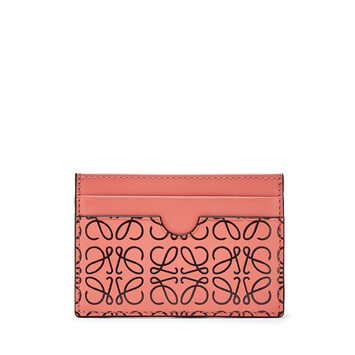 LOEWE Plain Card Holder Pink Tulip/Black front