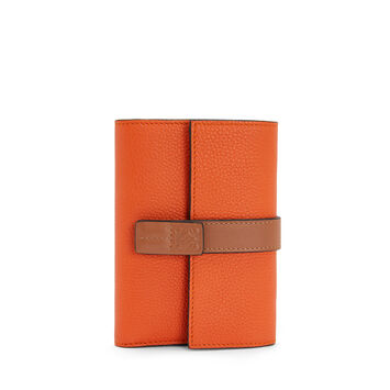 LOEWE Small Vertical Wallet Orange front