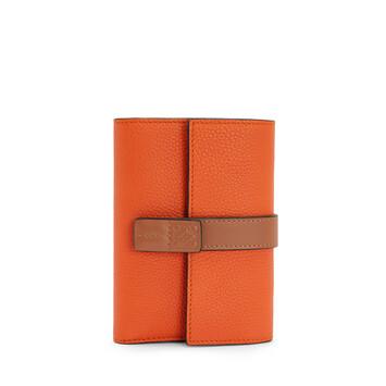 LOEWE Small Vertical Wallet Orange front