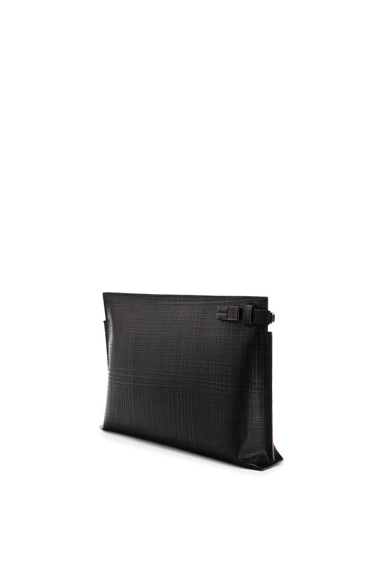 LOEWE T Pouch linen in calfskin Black pdp_rd