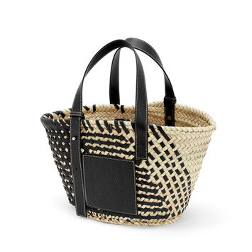 LOEWE Bolso Cesta Negro/Natural front