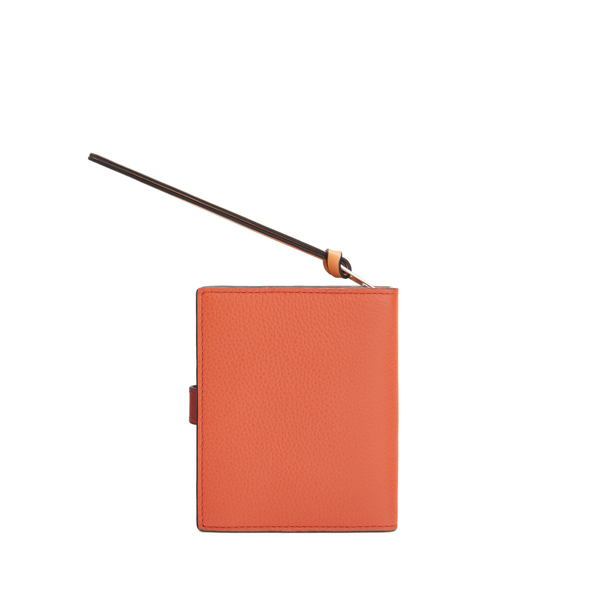 LOEWE Compact Zip Wallet Coral/Soft Apricot front