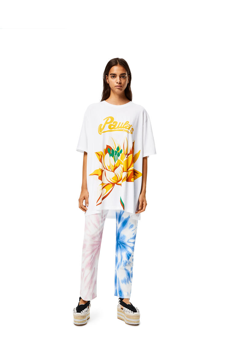 LOEWE Oversize T-shirt In Waterlily Cotton White pdp_rd