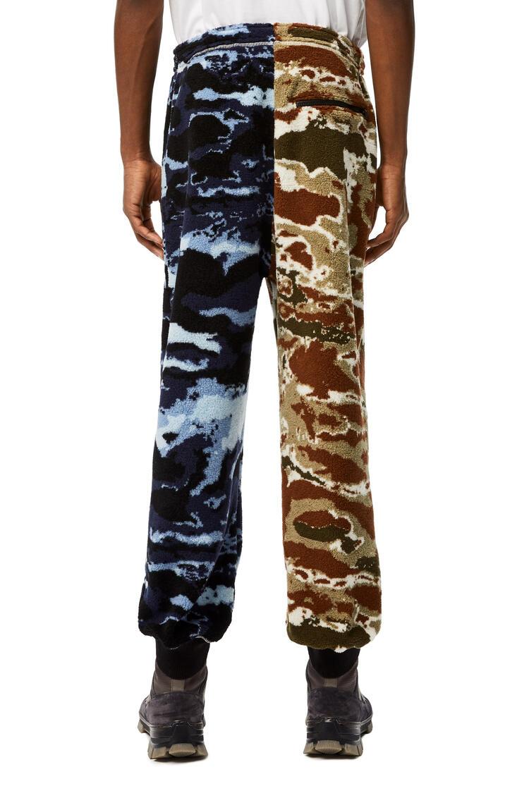 LOEWE Camouflage fleece trousers Blue/Brown pdp_rd