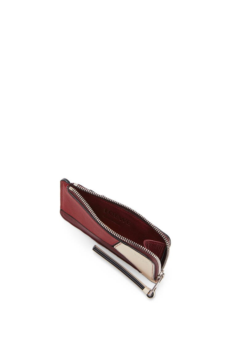 LOEWE Puzzle Coin Cardholder In Classic Calfskin Wine/Garnet pdp_rd