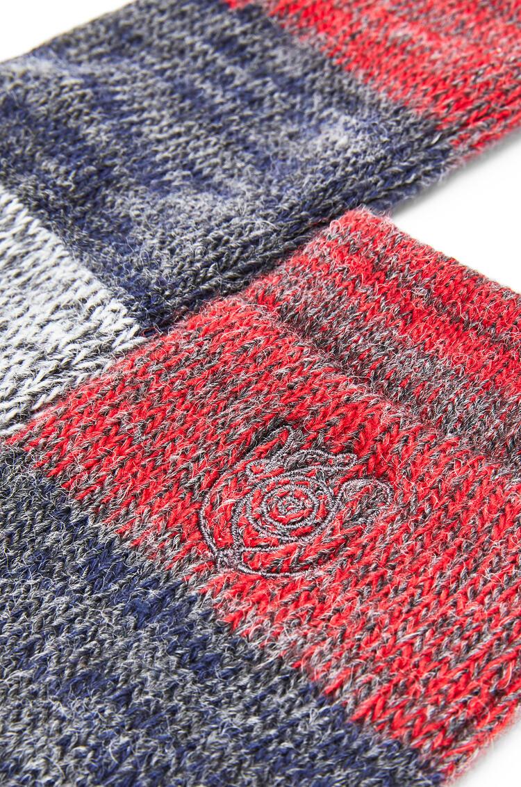 LOEWE Socks in polyester Red/Grey pdp_rd