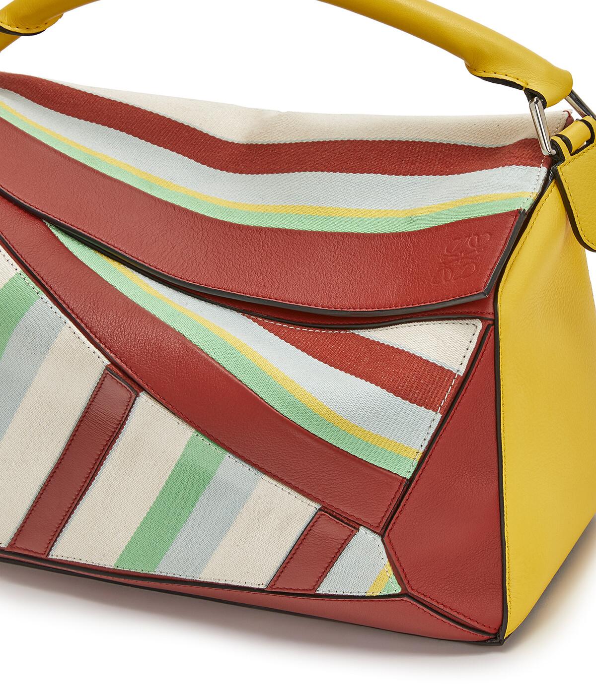 Puzzle Stripes Large Bag